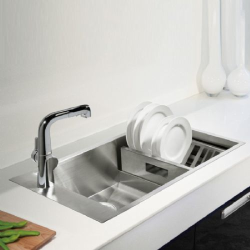 Kohler Geog 1.0 Bowl Stainless Steel Kitchen Sink - 3746T-1F-NA
